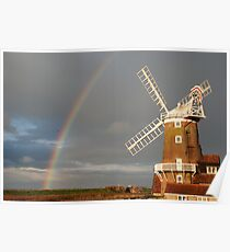 Cley Windmill and Rainbow 2010 Poster
