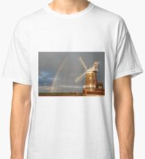 Cley Windmill and Rainbow 2010 Classic T-Shirt