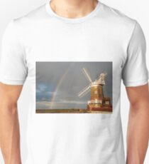 Cley Windmill and Rainbow 2010 Unisex T-Shirt