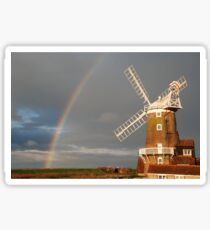 Cley Windmill and Rainbow 2010 Sticker
