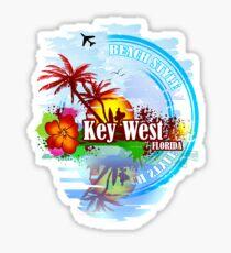 Key West Beach Day Sticker