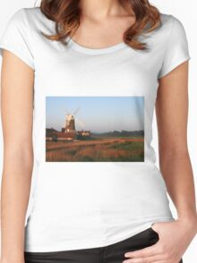 Cley Windmill at Dawn Women's Fitted Scoop T-Shirt