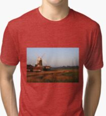 Cley Windmill at Dawn Tri-blend T-Shirt