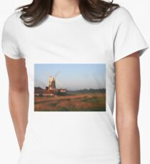 Cley Windmill at Dawn Women's Fitted T-Shirt