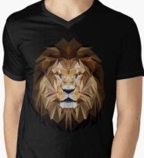 Lion low poly Men's V-Neck T-Shirt