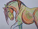 Colorful Horse by Juhan Rodrik