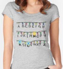 Stranger Things- R-U-N Women's Fitted Scoop T-Shirt