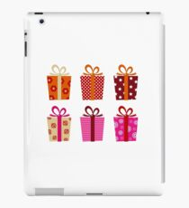 Set of patterned gift boxes for birthday / xmas iPad Case/Skin