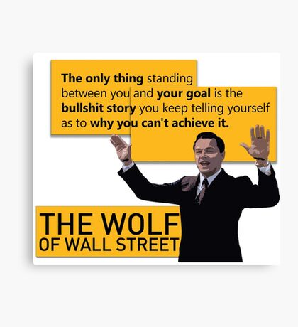 Di Caprio - Wolf of Wallstreet Canvas Print