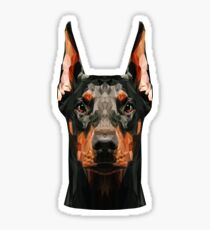 Dobermann niedrig Poly Sticker