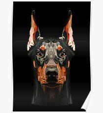 Dobermann niedrig Poly Poster