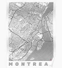 Montreal Map Line Poster