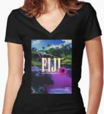 Purple Dream Women's Fitted V-Neck T-Shirt