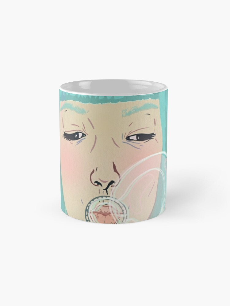 Alternate view of Blue Girl Blowing Bubbles Mug