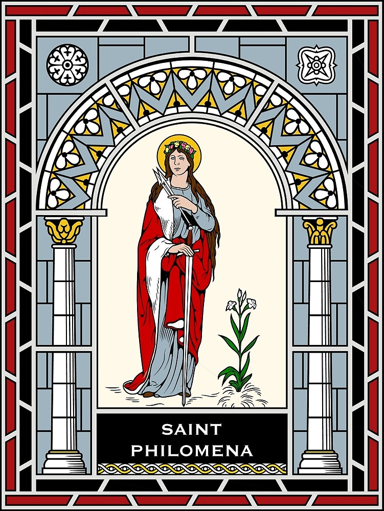 ST PHILOMENA under STAINED GLASS by CatholicSaints