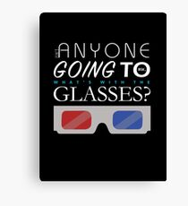 Doctor Who 3D Glasses Canvas Print