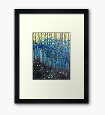 Space Under Water Framed Print