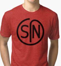 NJS SIN T-Shirt Black Print Tri-blend T-Shirt