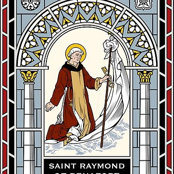 ST RAYMUND OF PENNAFORT under STAINED GLASS by CatholicSaints