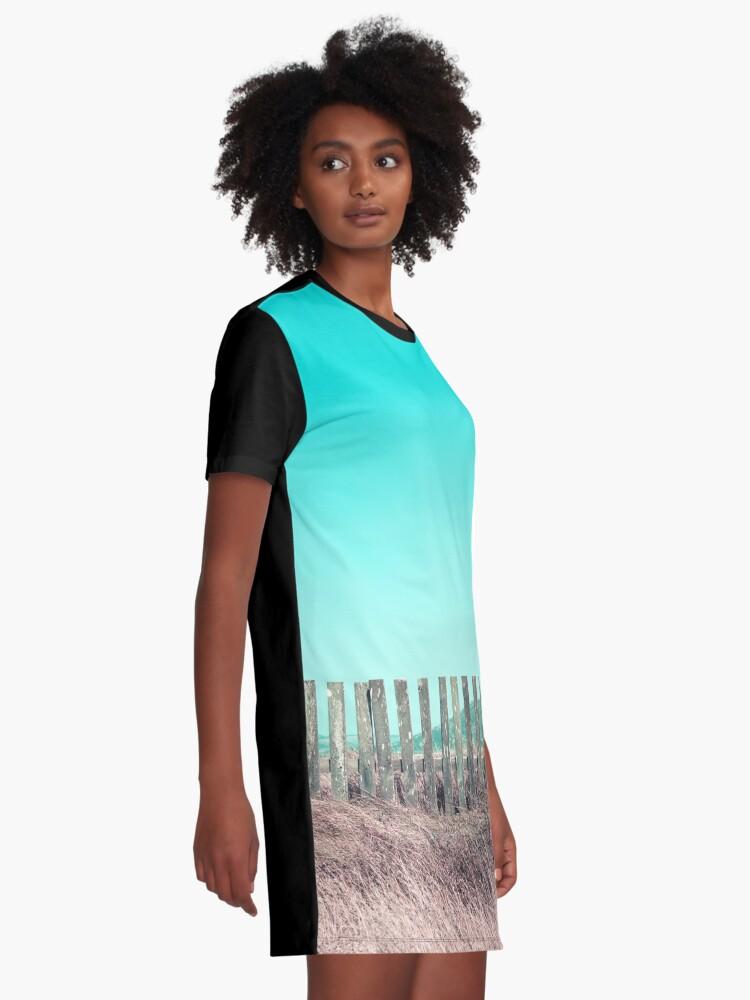 Alternative Ansicht von Candy Zäune T-Shirt Kleid