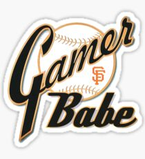 SF Giants Gamer Babe Sticker
