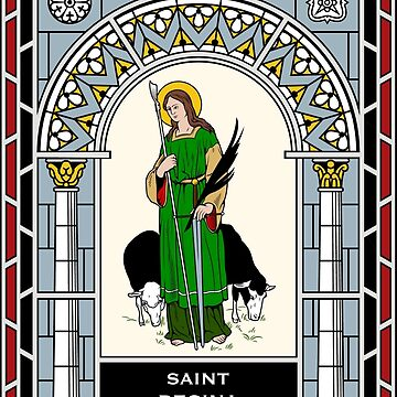 ST REGINA under STAINED GLASS by CatholicSaints