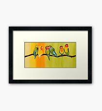 Sweetheart Birds Framed Print