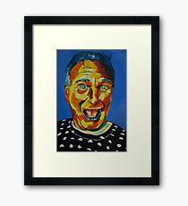 Robbin Williams acrylic on paper Framed Print