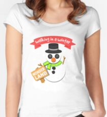 A Winter Wonderland  Women's Fitted Scoop T-Shirt