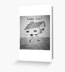 """PUN COMIC - """"HOME RUN!"""" Greeting Card"""