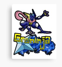 Greninja Pokemon Tee Canvas Print