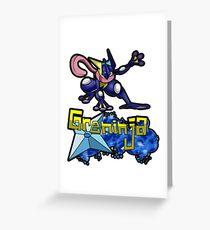Greninja Pokemon Tee Greeting Card