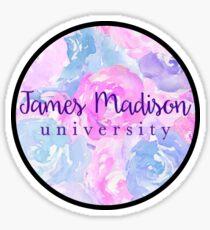 James Madison University Watercolor Flowers Sticker