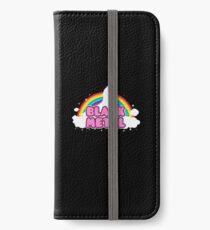 BLACK METAL! (Funny Unicorn / Rainbow Mosh Parody Design) iPhone Wallet/Case/Skin