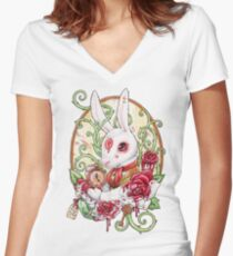 Rabbit Hole Women's Fitted V-Neck T-Shirt