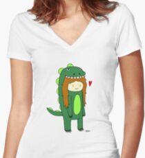 DinoCooper Women's Fitted V-Neck T-Shirt