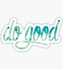 Do Good Blue Watercolor Sticker
