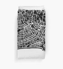 Nice Map - Black Duvet Cover