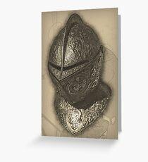 Ornate Helmet Greeting Card