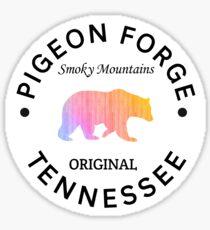 PIGEON FORGE TENNESSEE SMOKY MOUNTAINS ORIGINAL NATIONAL PARK BEAR Sticker
