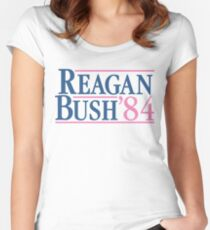 Reagan Bush 84 Pink Preppy Republican Women's Fitted Scoop T-Shirt