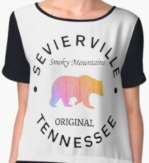 SEVIERVILLE TENNESSEE SMOKY MOUNTAINS ORIGINAL NATIONAL PARK BEAR Chiffon Top