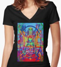 Eight Bones of the Spider Woman Women's Fitted V-Neck T-Shirt