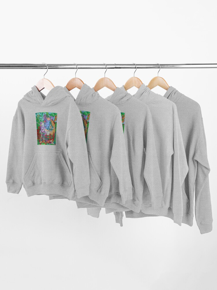 Alternate view of Archeology of the Unicorn Kids Pullover Hoodie
