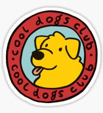 cool dogs club Sticker