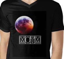Man On The Moon Mens V-Neck T-Shirt
