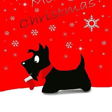 Scottie Dog 'Merry Christmas' by archyscottie