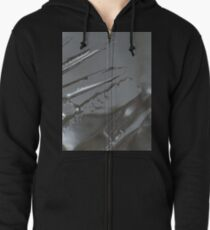 abstract ice Zipped Hoodie