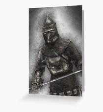 Sword Greeting Card