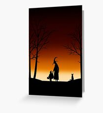 Halloween Gradient Silhouette Greeting Card